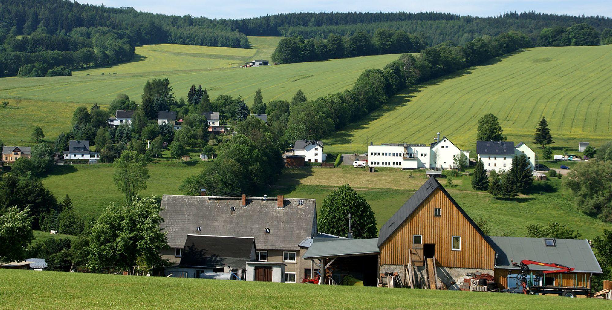 Blick auf den Ansprunger Ortsteil Sorgau